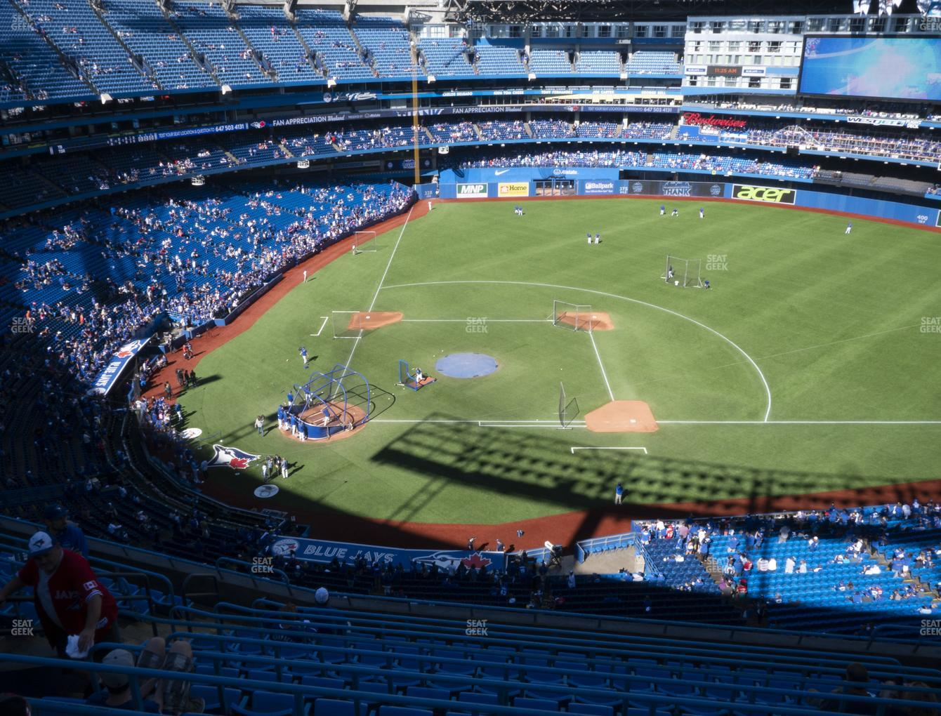 Toronto Blue Jays at Rogers Centre Section 519 R View