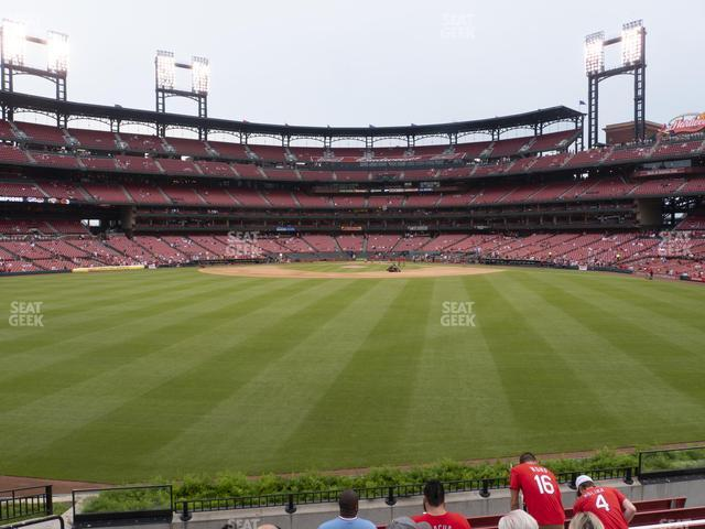 Busch Stadium Lower Left Field Bleachers 197 view