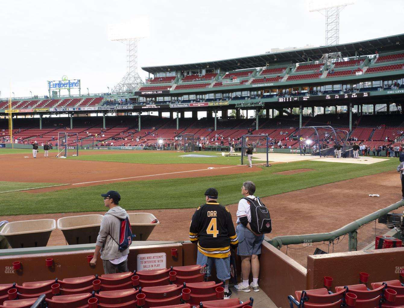 Boston Red Sox at Fenway Park Field Box 72 View