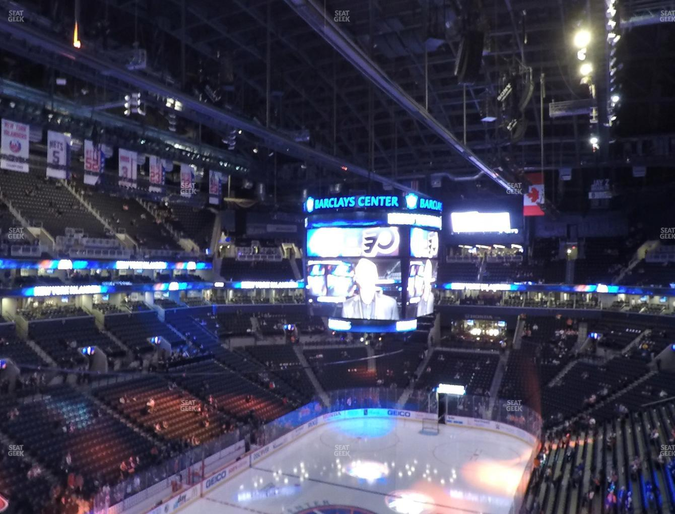 New York Islanders at Barclays Center Section 230 View