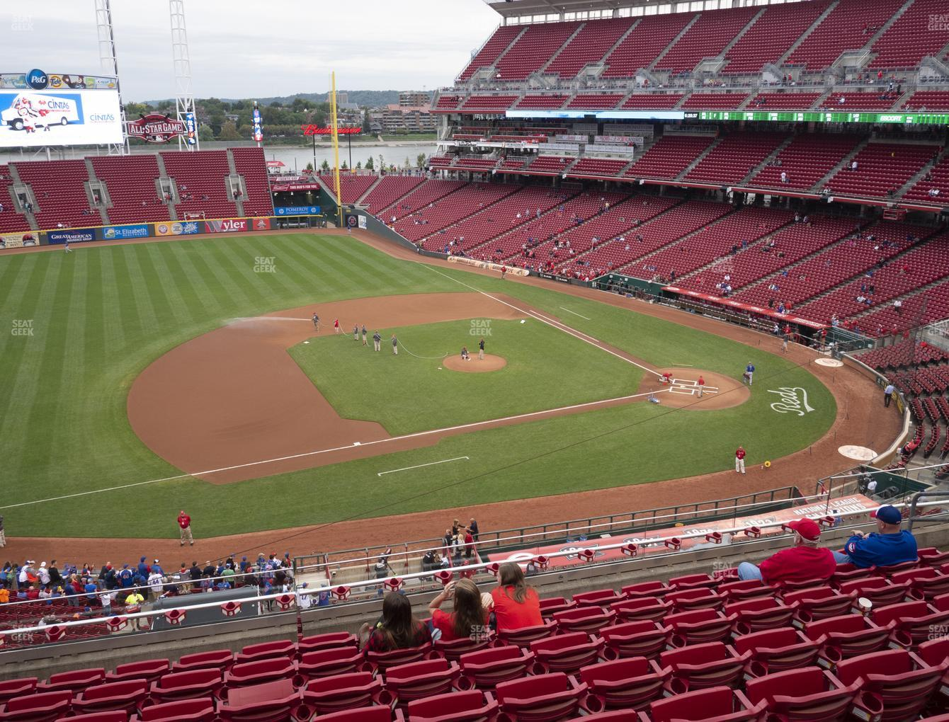 Cincinnati Reds at Great American Ball Park Section 416 View