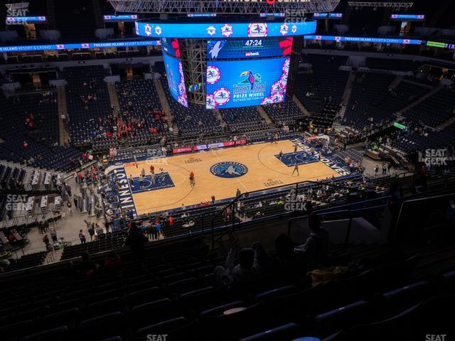 Target Center Section 213 view