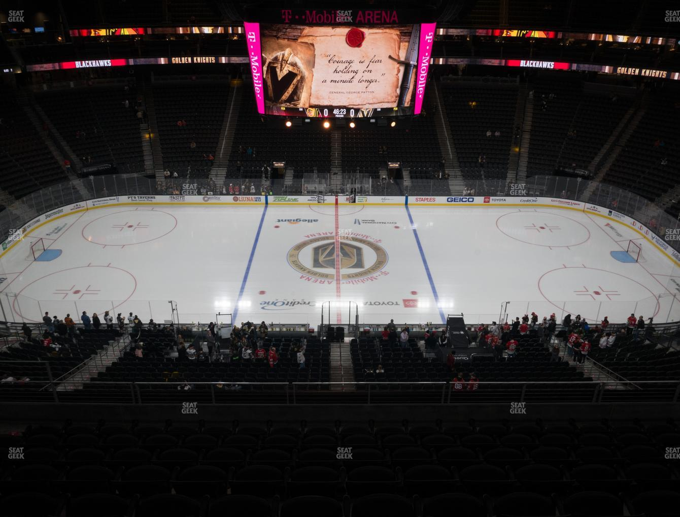 Vegas Golden Knights at T-Mobile Arena Section 205 View