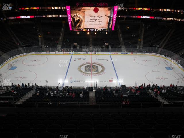 T-Mobile Arena Section 205 view