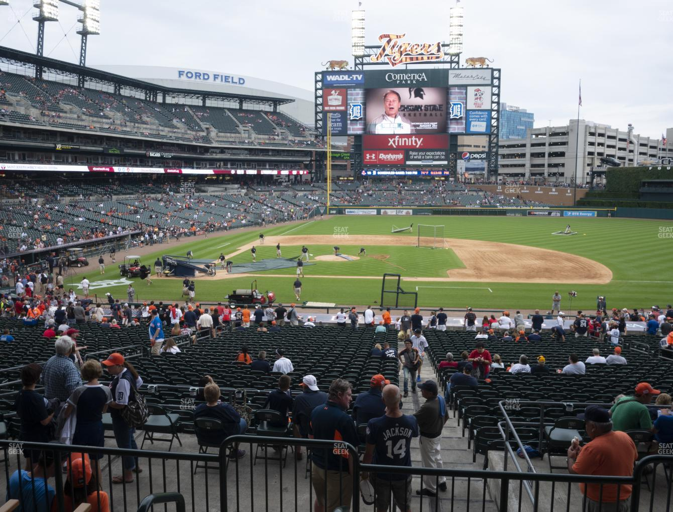 Detroit Tigers at Comerica Park Section 122 View