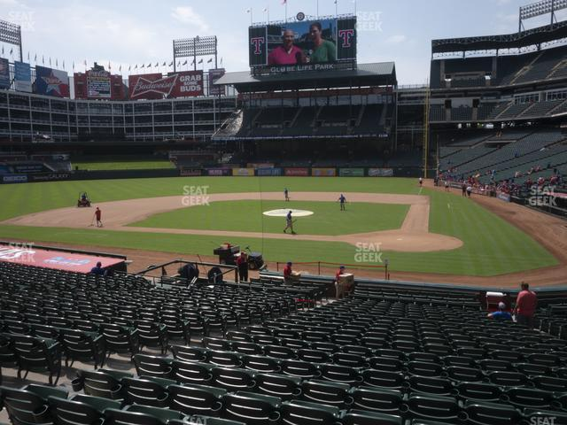 Globe Life Park Section 22 view