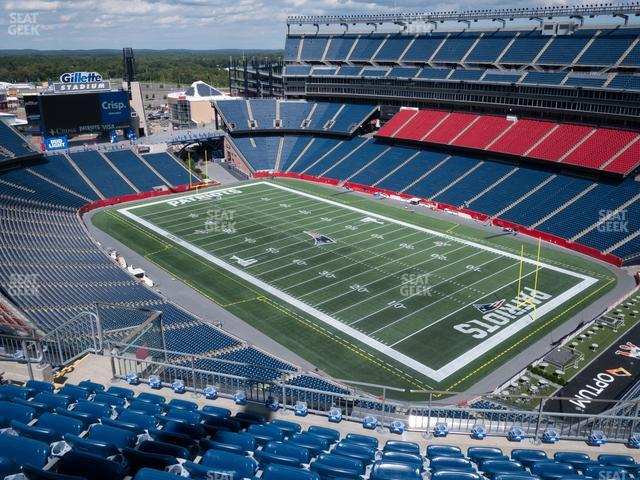 Gillette Stadium Section 324 view