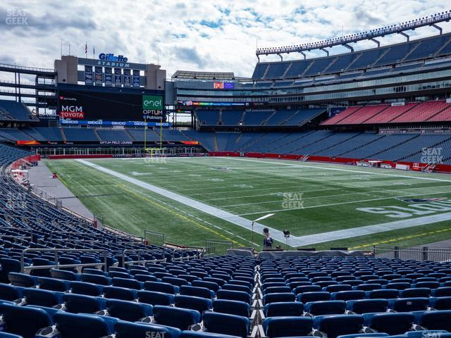 Gillette Stadium Section 102 view