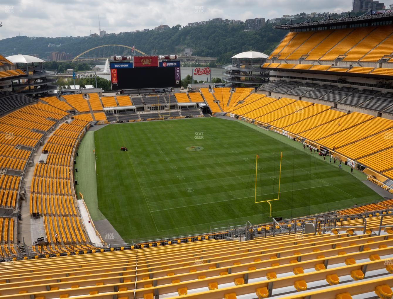 Pittsburgh Steelers at Heinz Field Section 520 View