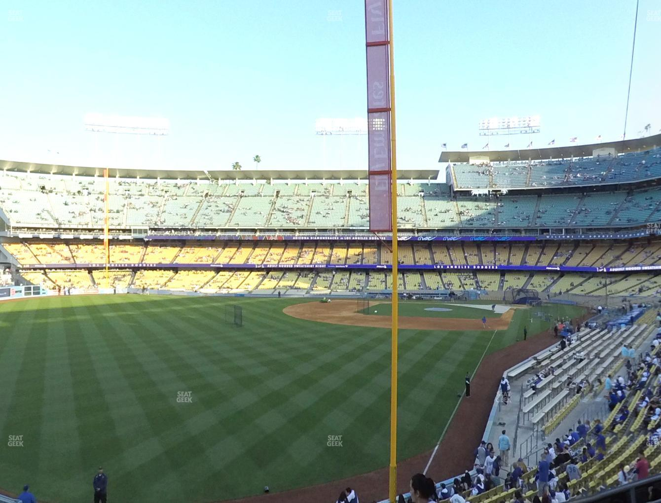 Los Angeles Dodgers at Dodger Stadium Loge Box 165 View