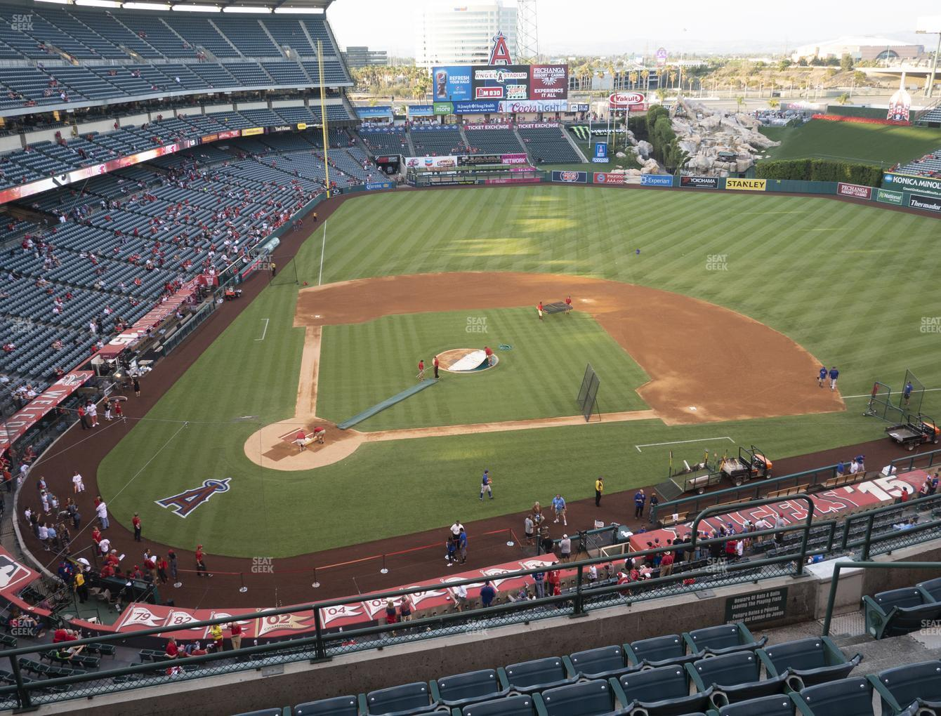 Los Angeles Angels at Angel Stadium of Anaheim Section 423 View