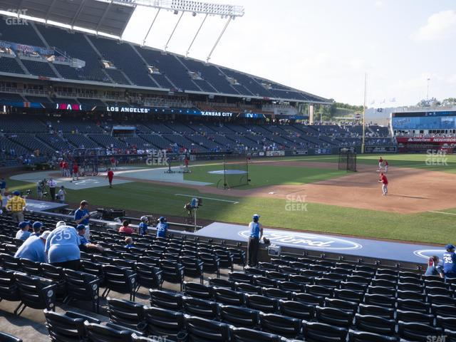Kauffman Stadium Section 138 view