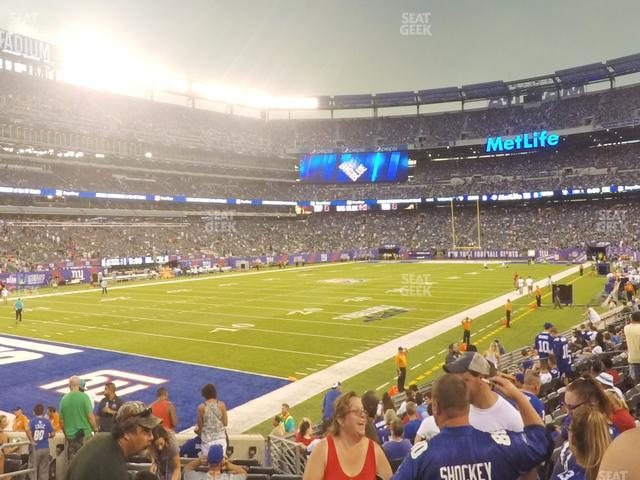 MetLife Stadium Section 121 view