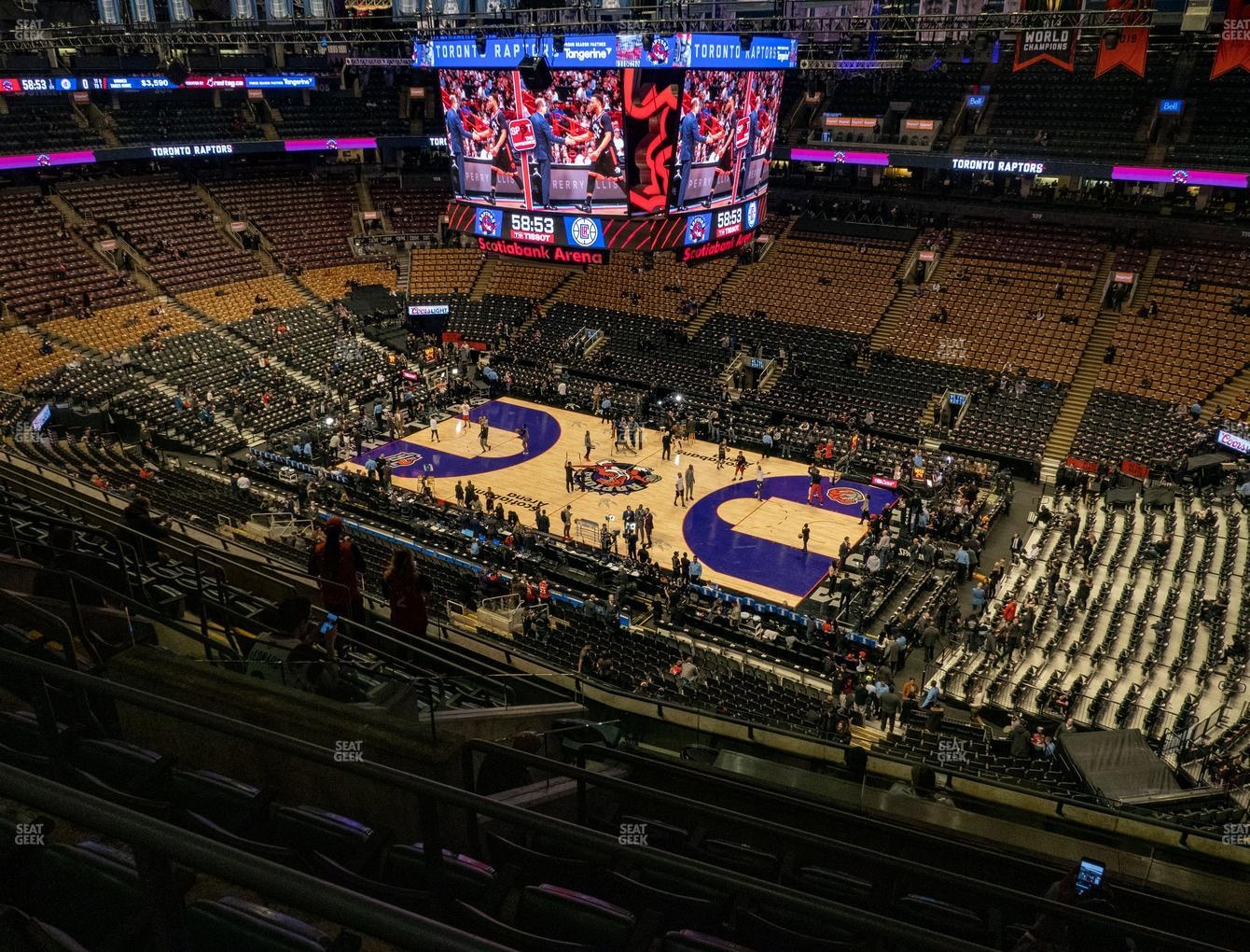 Toronto Raptors at Scotiabank Arena Section 319 View