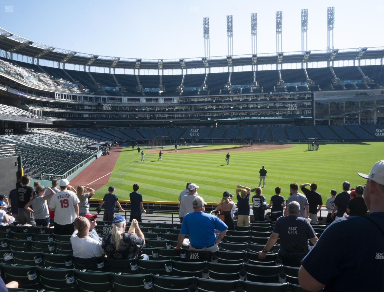 Cleveland Indians at Progressive Field Section 113 View