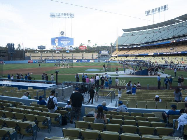 Dodger Stadium Field Box 13 view