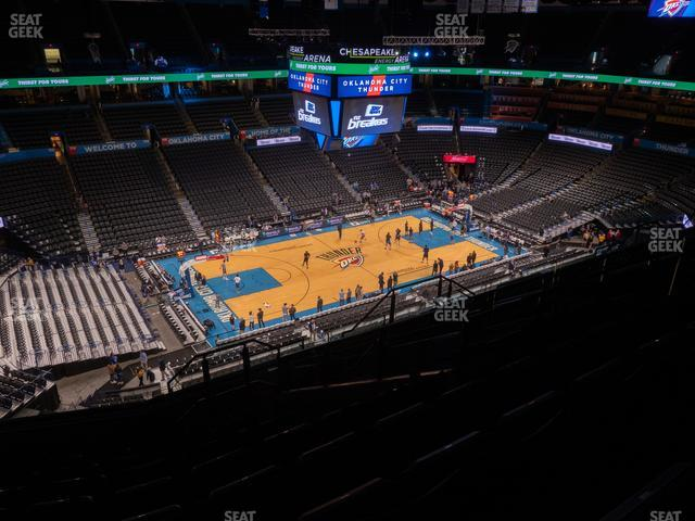 Chesapeake Energy Arena Section 311 view