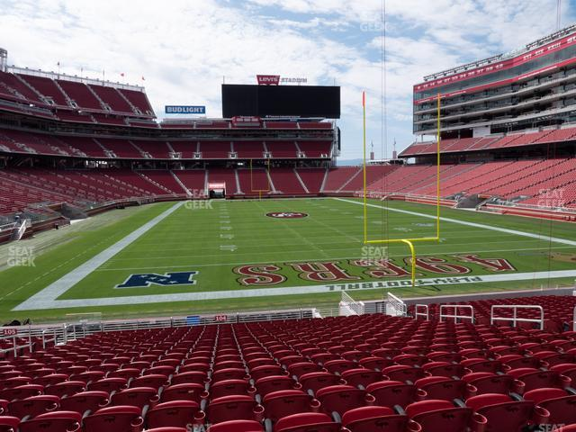 Levi's Stadium Section 104 view