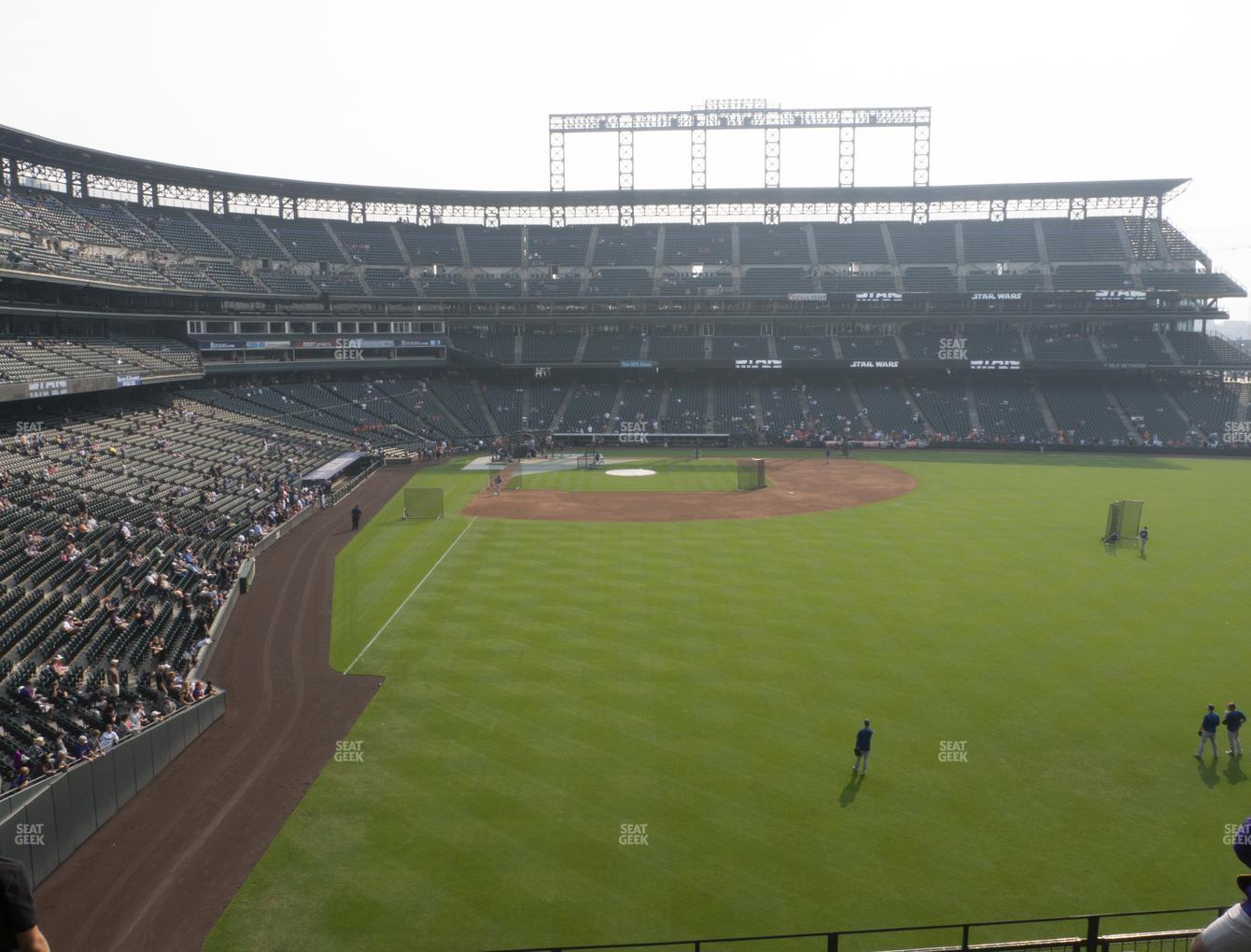 Colorado Rockies at Coors Field Section 207 View