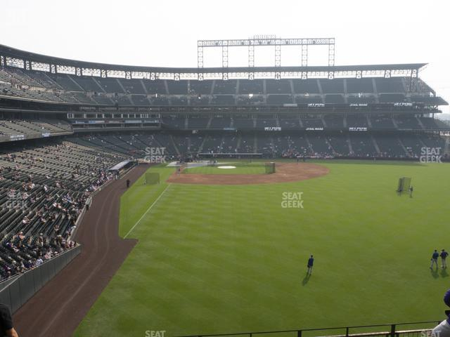 Coors Field Section 207 view