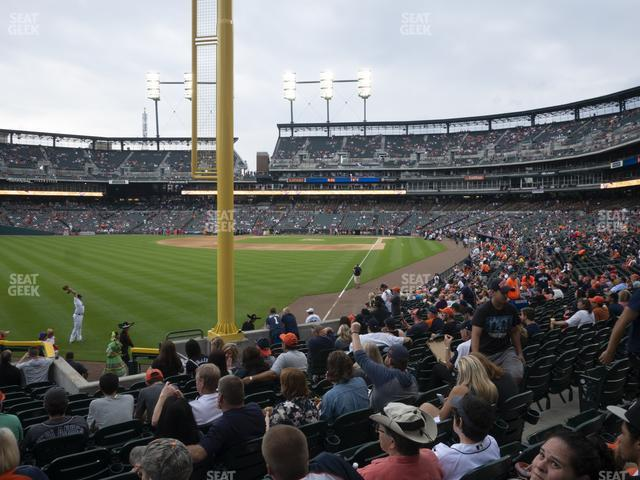 Comerica Park Section 144 view
