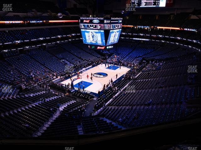 American Airlines Center Section 315 view