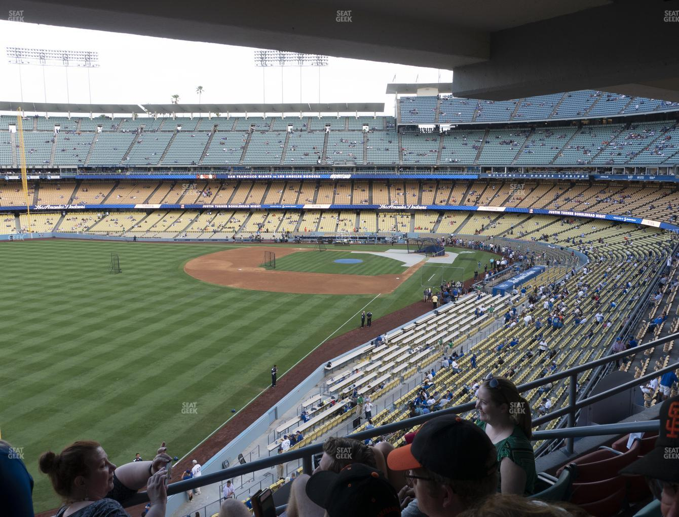 Los Angeles Dodgers at Dodger Stadium Section Club 251 View