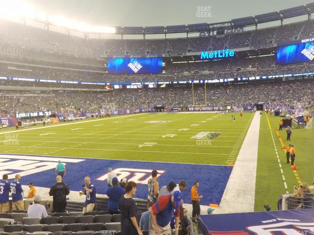 MetLife Stadium Section 123 view