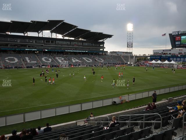 Dick's Sporting Goods Park Section 110 view