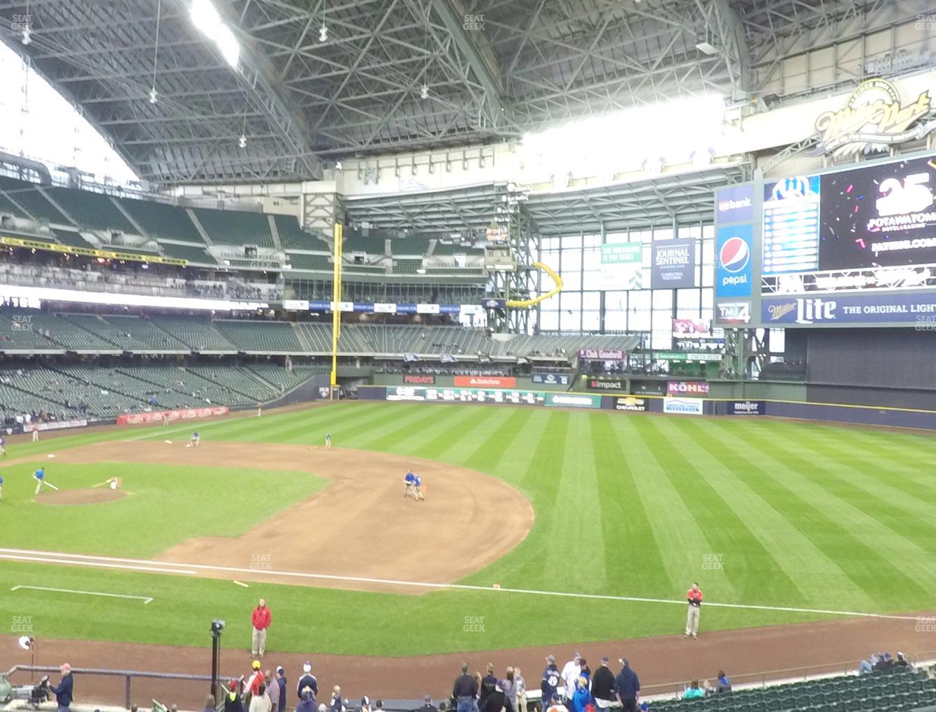 Concert at Miller Park Section 211 View