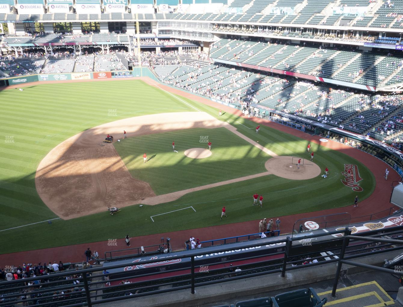 Cleveland Indians at Progressive Field Section 464 View