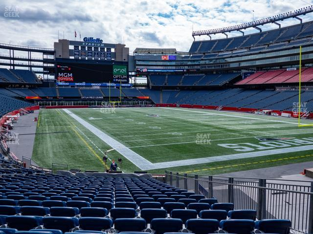 Gillette Stadium Section 101 view
