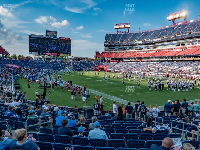 Nissan Stadium Section 128 view