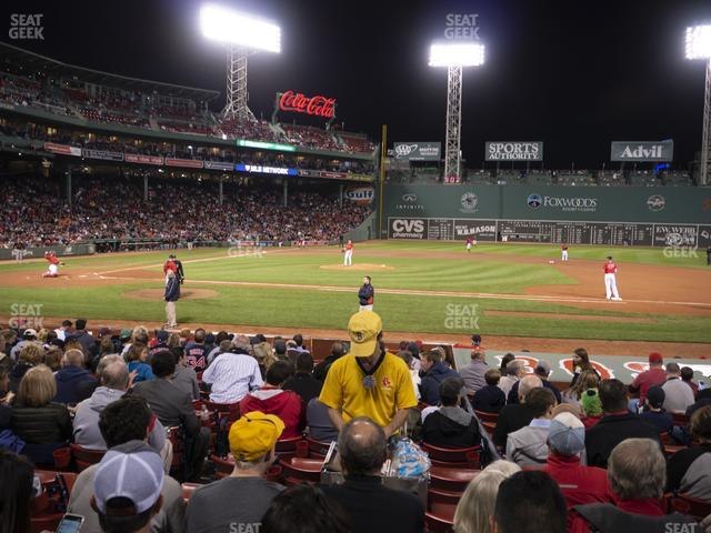 Fenway Park Loge Box 114 view