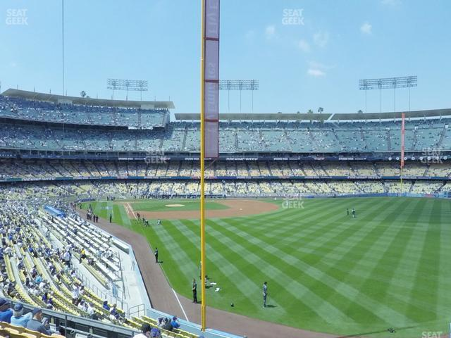 Dodger Stadium Loge Box 166 view