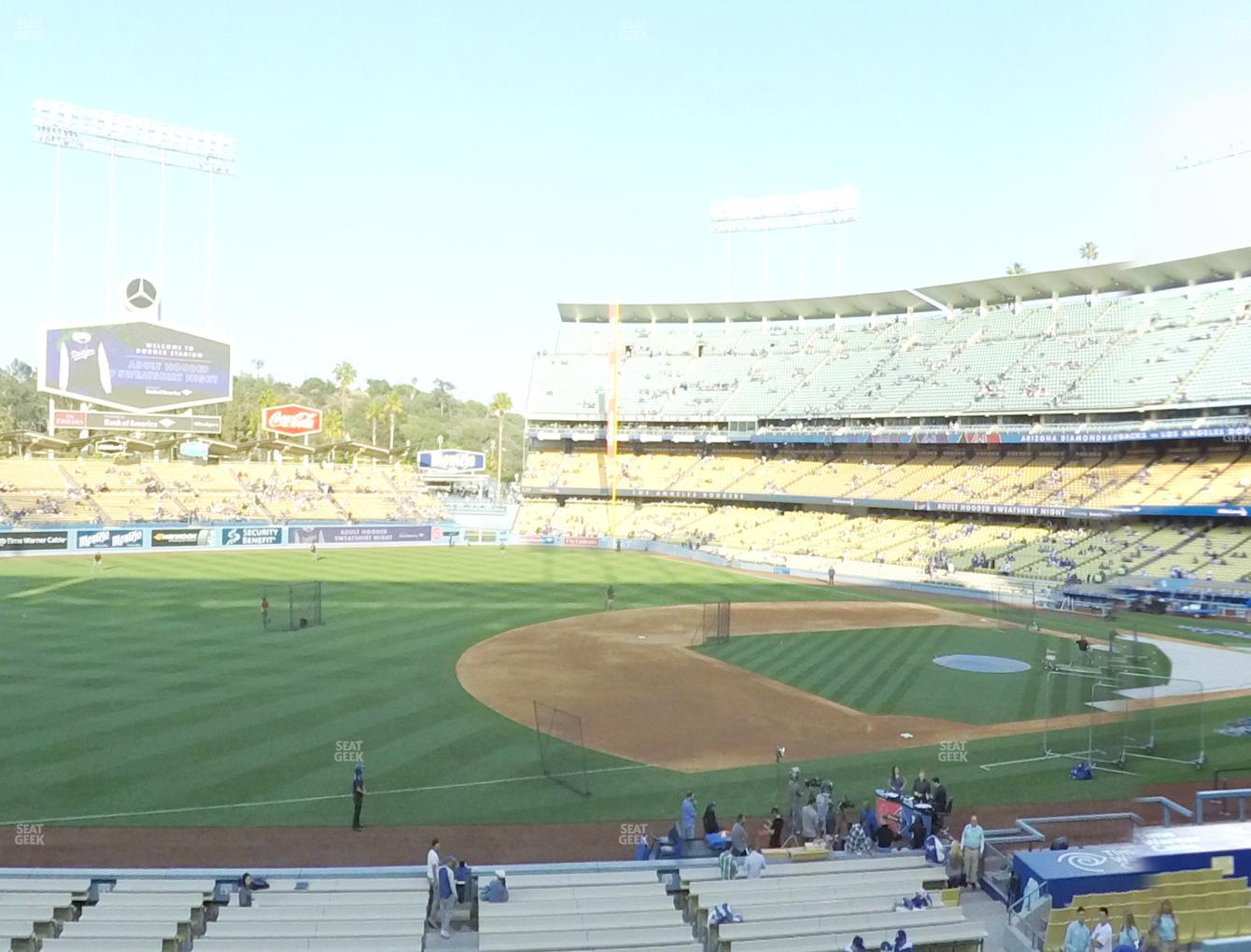 Los Angeles Dodgers at Dodger Stadium Loge Box 143 View
