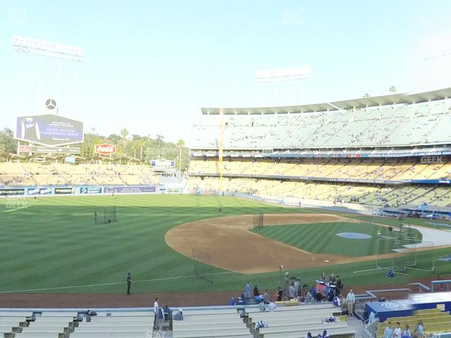 Dodger Stadium Loge Box 143 view