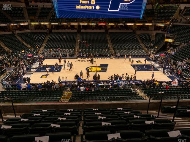 Bankers Life Fieldhouse Section 104 view