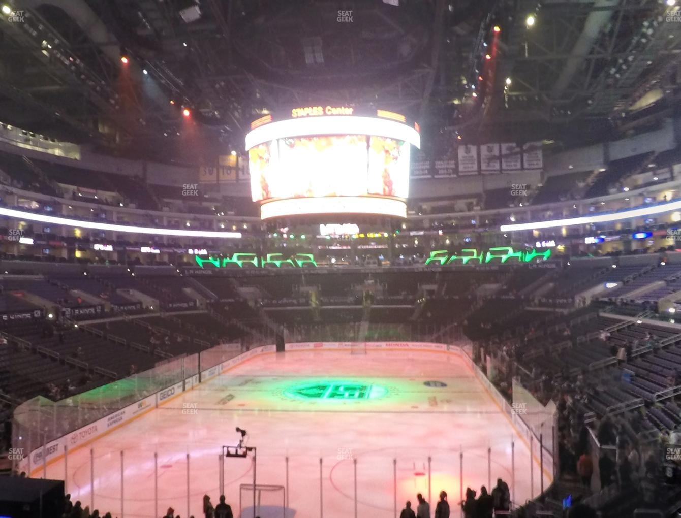 Los Angeles Kings at Staples Center Section 207 View