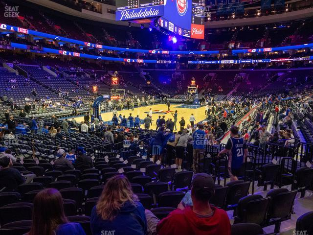 Wells Fargo Center Section 121 view