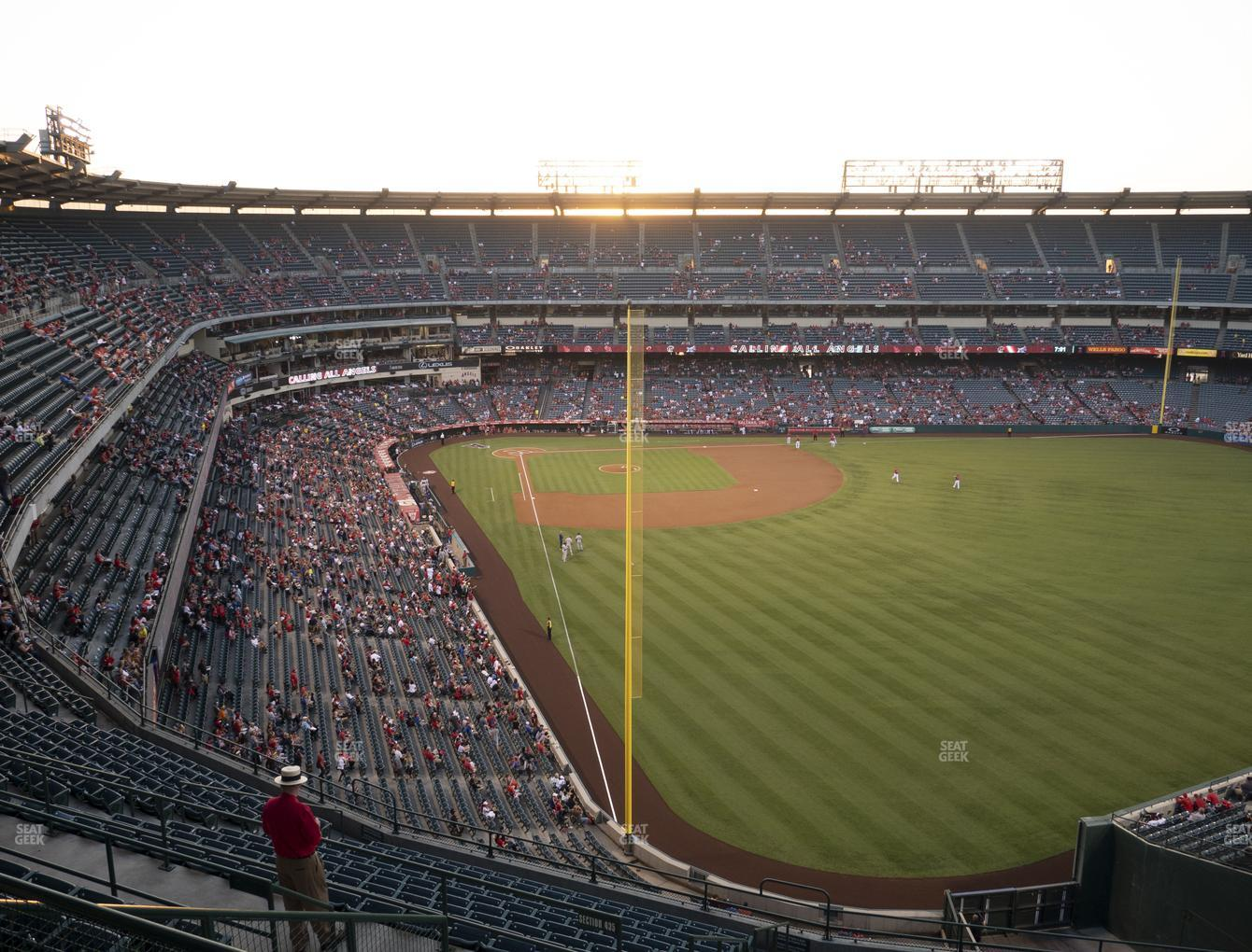 Los Angeles Angels at Angel Stadium of Anaheim Section 539 View