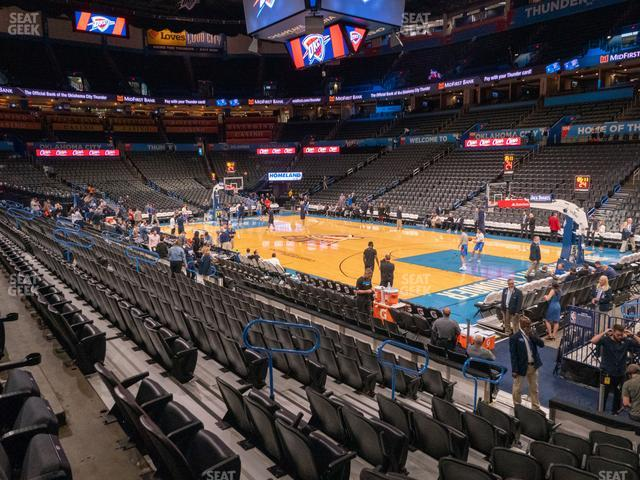 Chesapeake Energy Arena Section 113 view