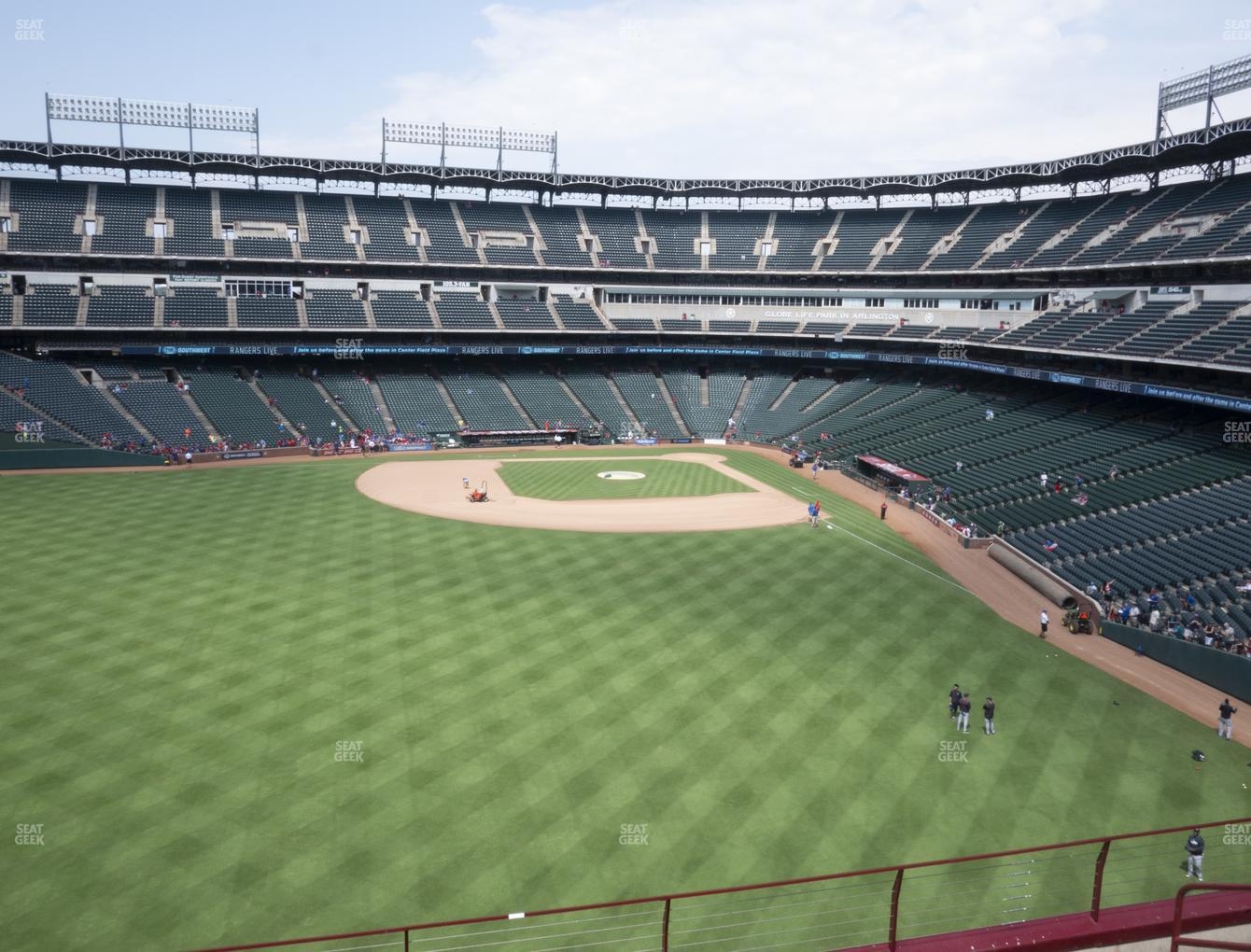 Texas Rangers at Globe Life Park Section 202 View