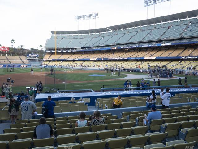 Dodger Stadium Field Box 25 view
