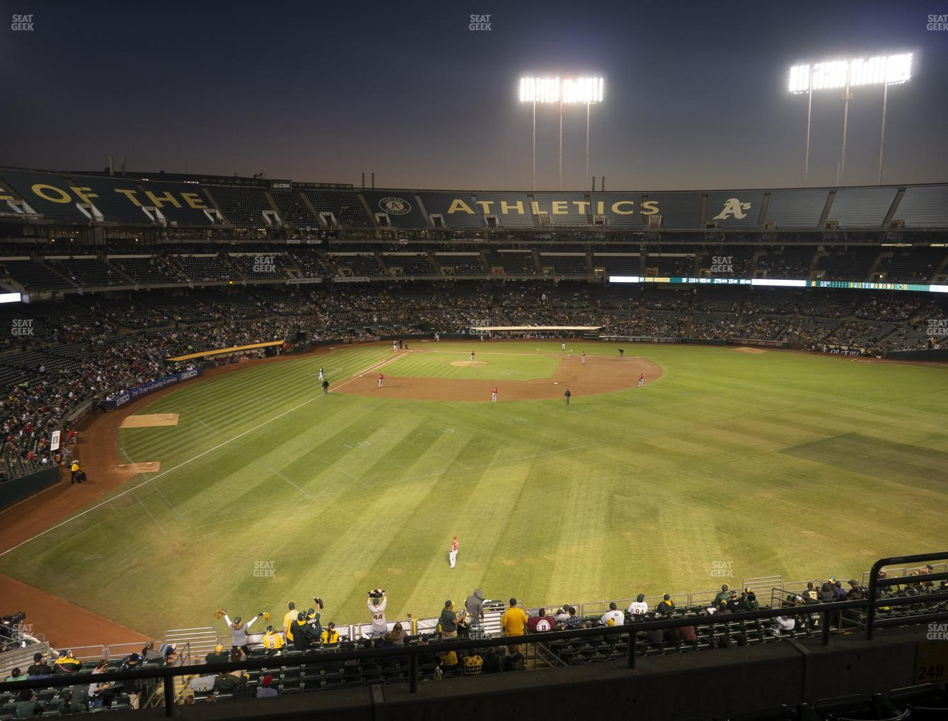 Oakland Athletics at RingCentral Coliseum Section 249 View