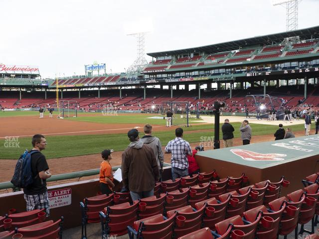 Fenway Park Field Box 70 view