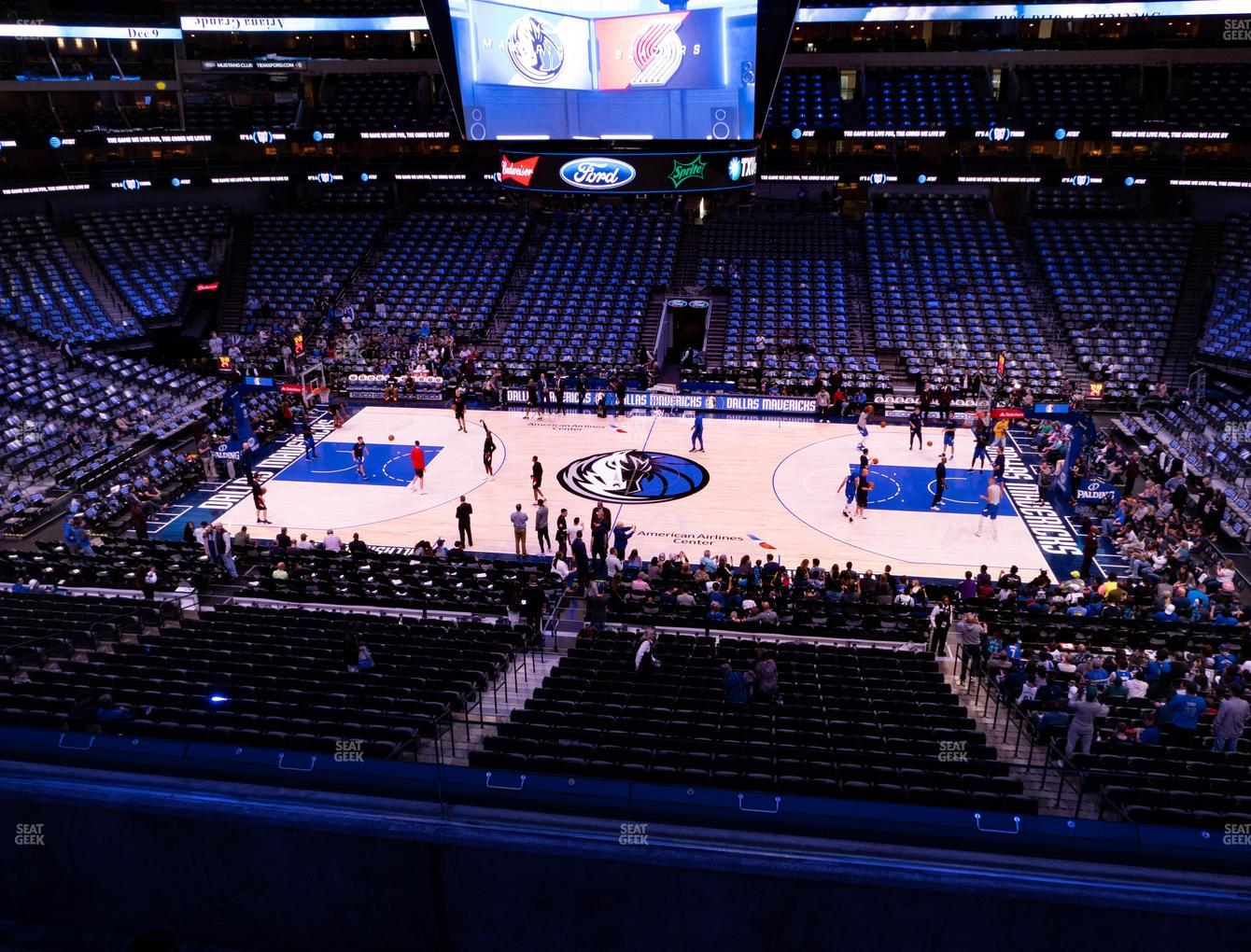 Dallas Mavericks at American Airlines Center Section 209 View
