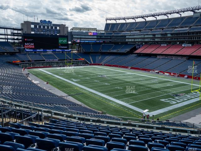 Gillette Stadium Section 203 view