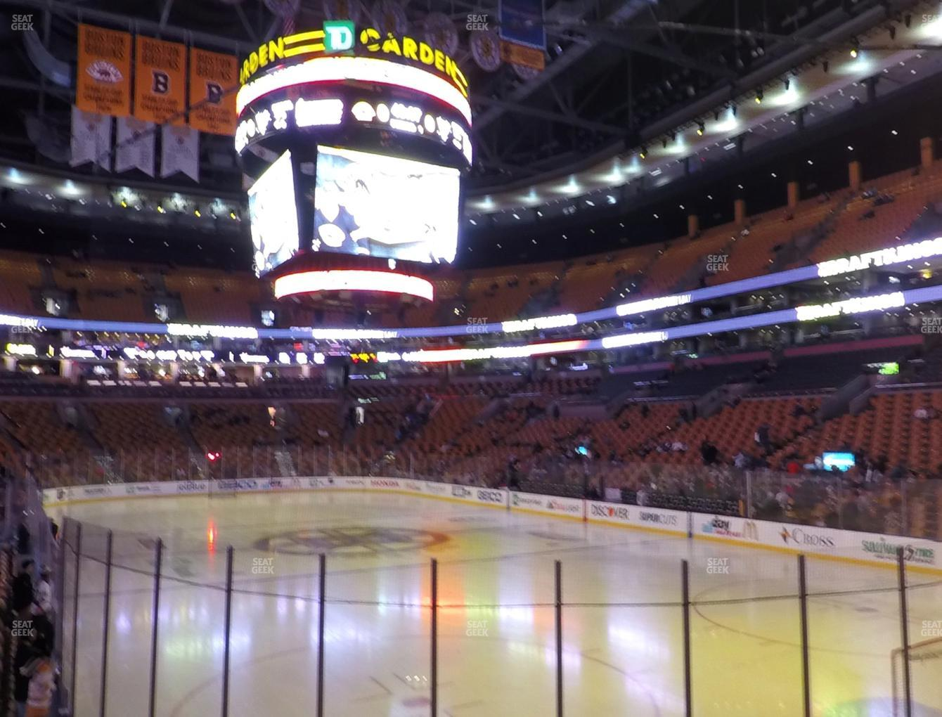Boston Bruins at TD Garden Section Loge 8 View