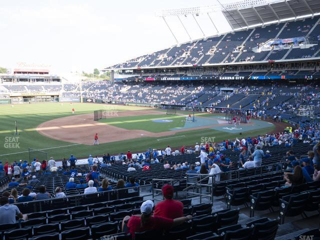 Kauffman Stadium Section 216 view